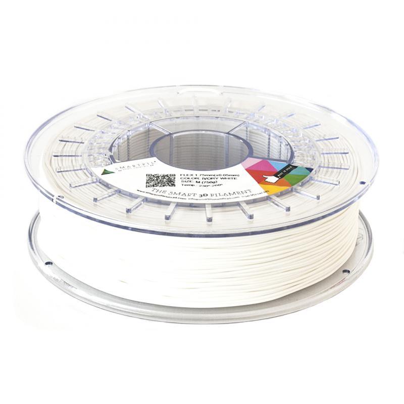 3D nyomtatószál - FLEX - SMARTFIL - elefántcsont fehér, 1.75mm, 0.75kg