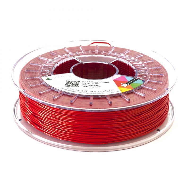 3D nyomtatószál - FLEX - SMARTFIL - rubinvörös, 1.75mm, 0.75kg