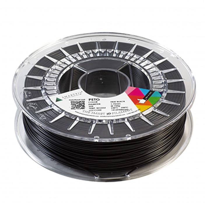 3D nyomtatószál - PETG - SMARTFIL - fekete, 1.75mm, 0.75kg