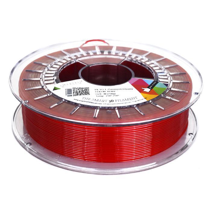 3D nyomtatószál - PETG - SMARTFIL - rubinvörös, 1.75mm, 0.75kg