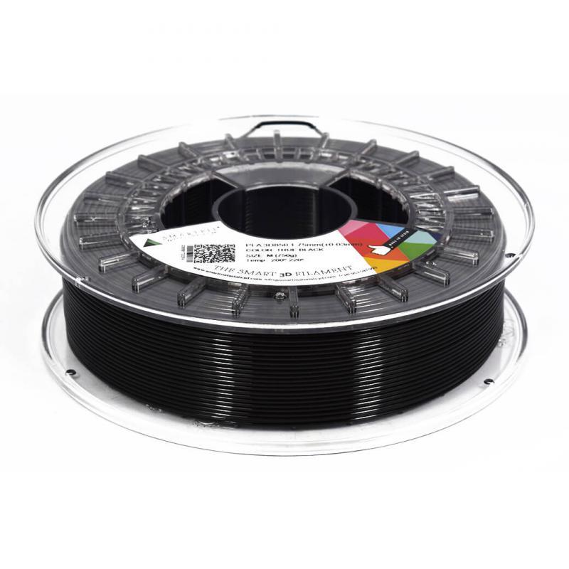 3D nyomtatószál - PLA - SMARTFIL - fekete, 1.75mm, 0.75kg