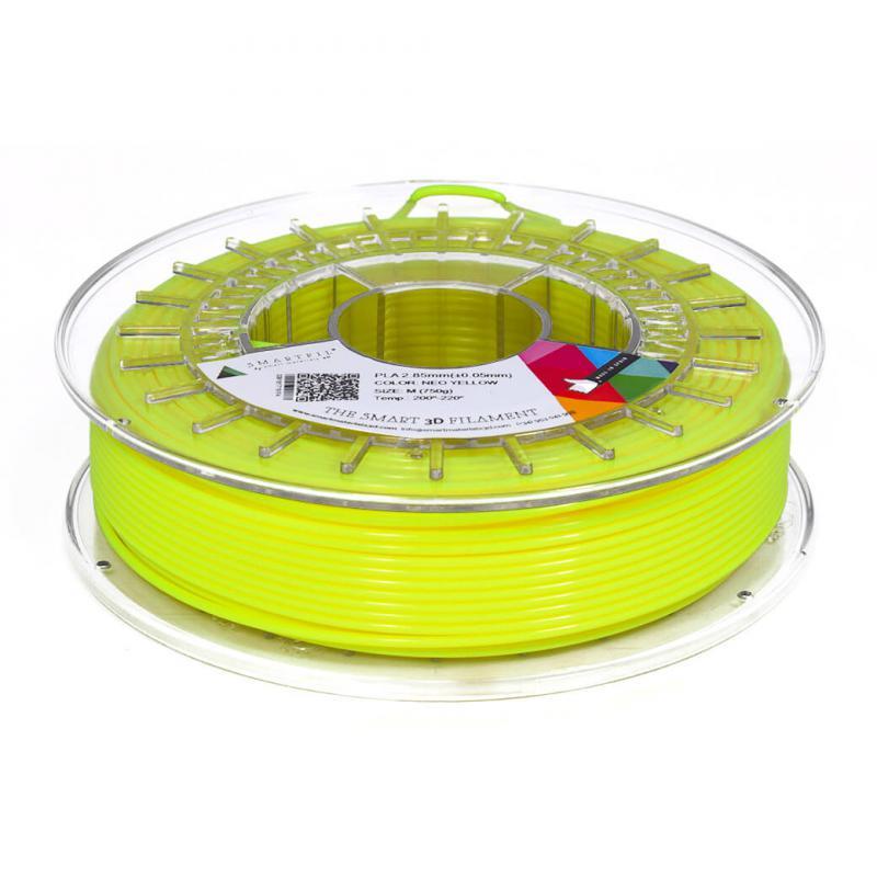 3D nyomtatószál - PLA - SMARTFIL - neonsárga, 1.75mm, 0.75kg
