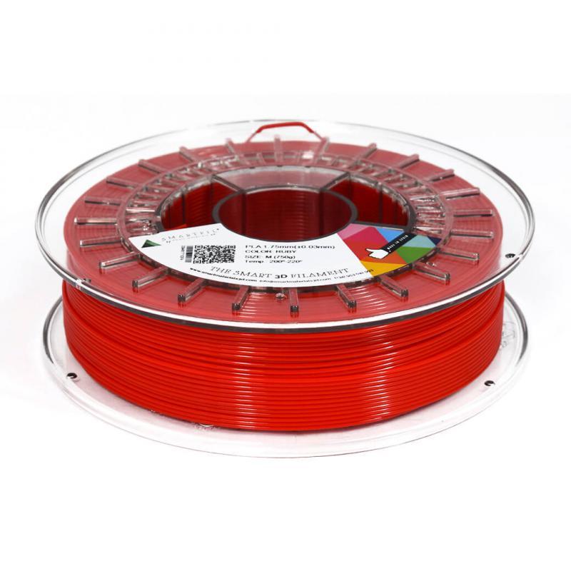 3D nyomtatószál - PLA - SMARTFIL - rubinvörös, 1.75mm, 0.75kg