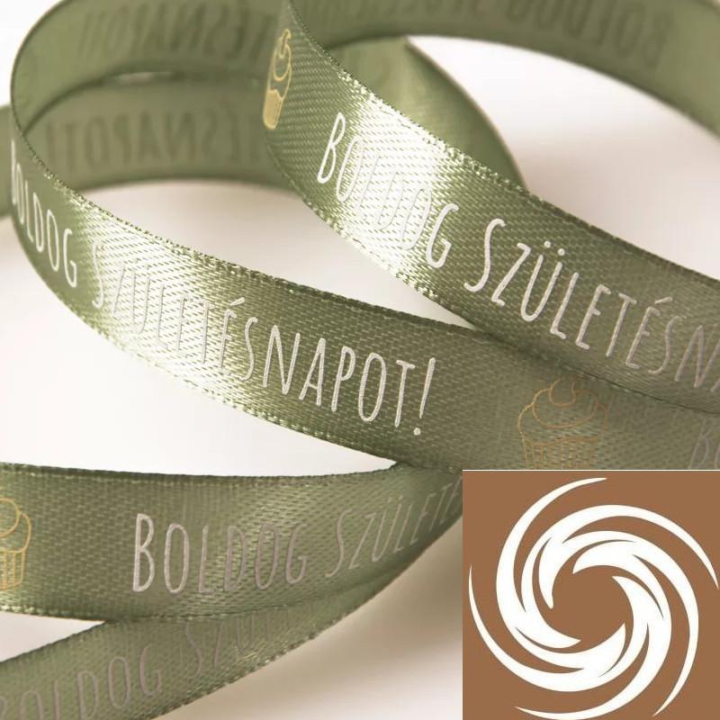 Boldog Születésnapot feliratos szalagok - Vintage zöld