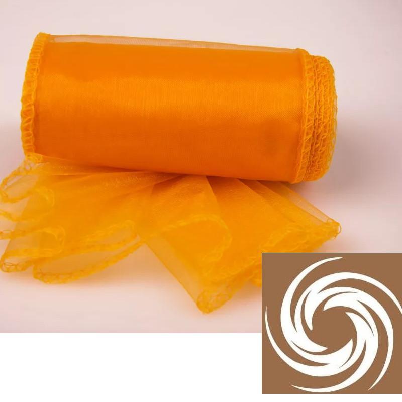 Organza tekercs - Narancssárga