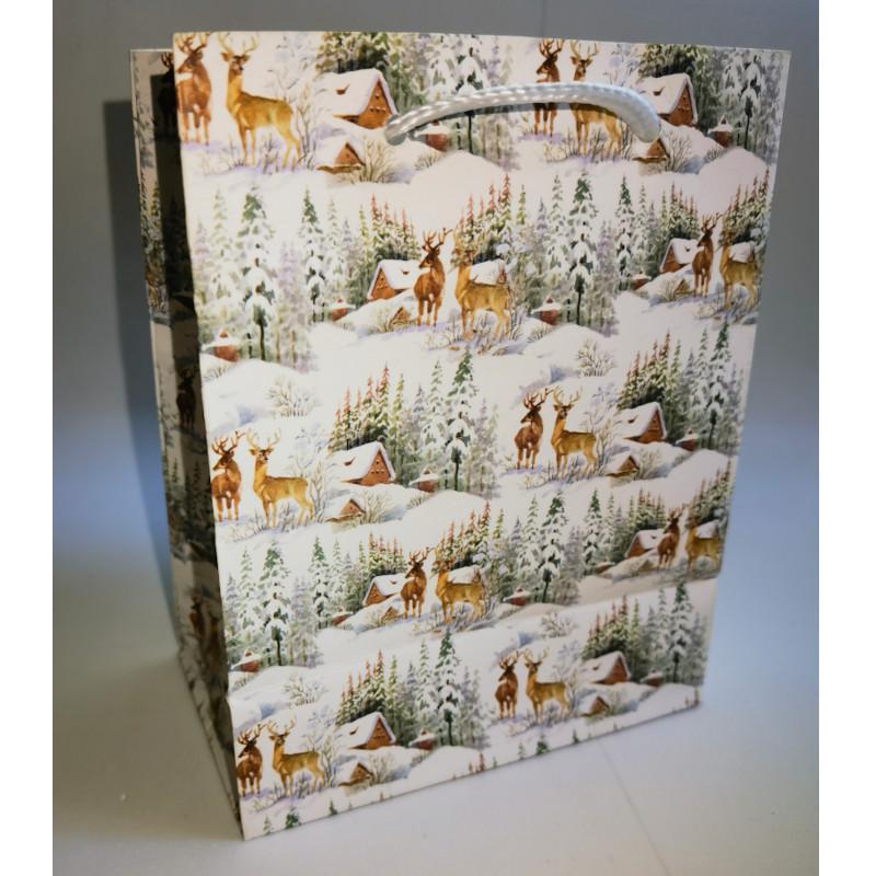 Papír tasak szarvasok erdőben