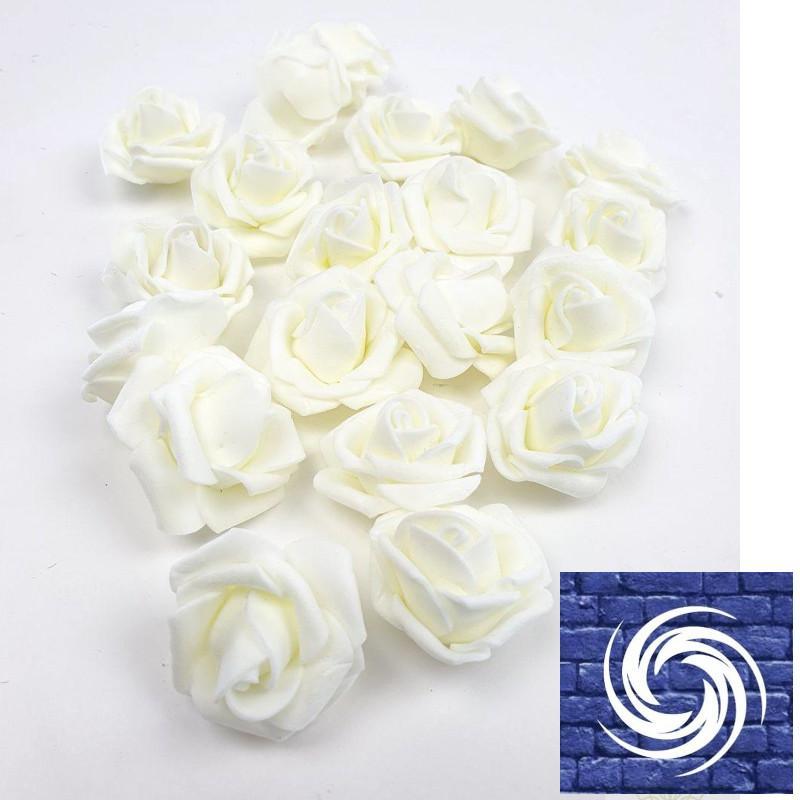 Polyfoam rózsafejvirág  - Fehér