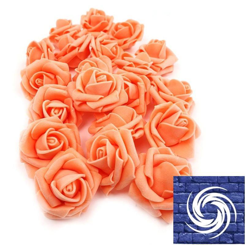 Polyfoam rózsafejvirág  - Sötét Barack