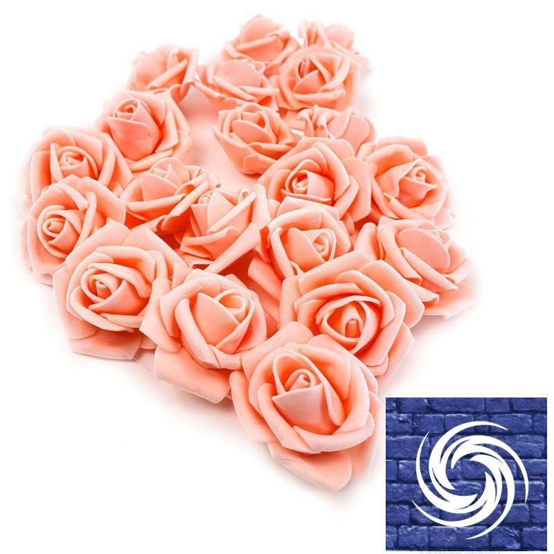 Polyfoam rózsafejvirág  - Világos Barack