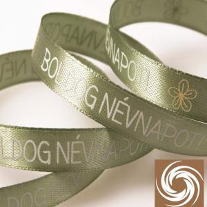 Boldog Névnapot feliratos szalag - Vintage zöld