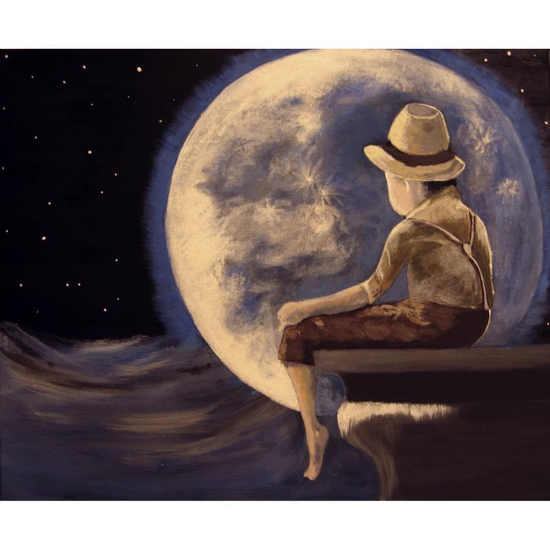 A hold varázsa - akril festmény