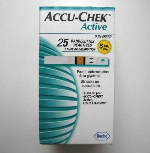 Accu-chek active vércukor tesztcsík 25 db