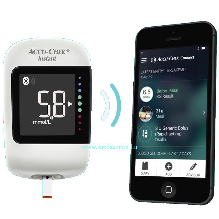 Accu-chek Instant vércukorszintmérő