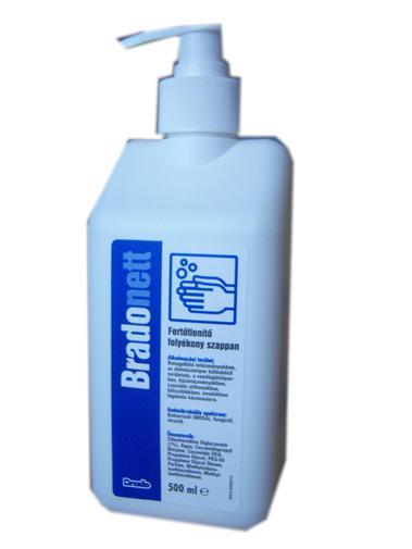 Bradonett fertőtlenítő szappan 500ml pumpás