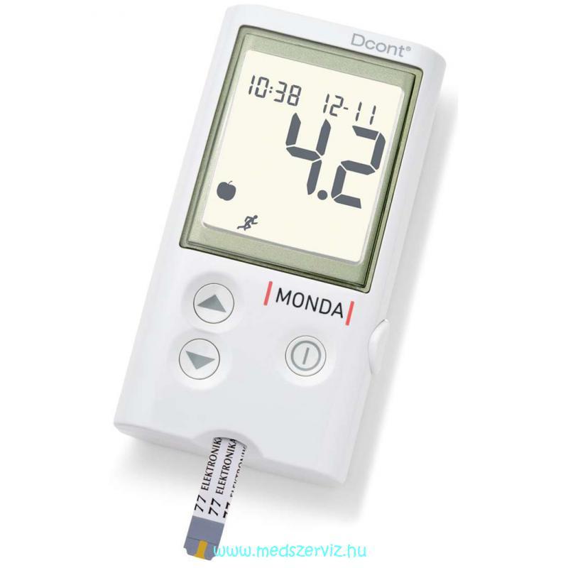 D cont Monda beszélő vércukormérő