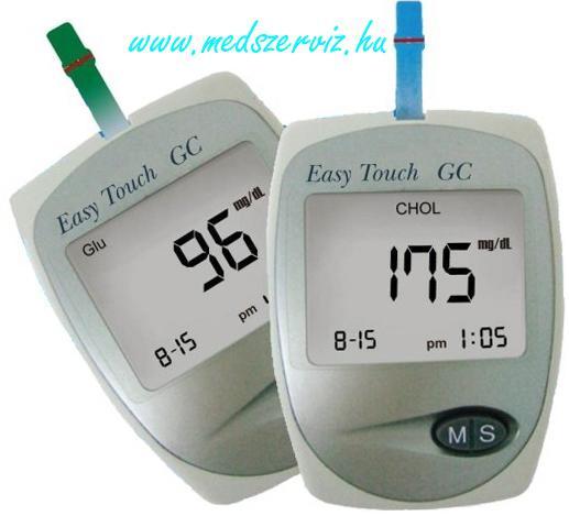 Easy Touch GC cukor- és koleszterinszintmérő