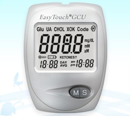 Easy touch GCU cukor-, húgysav- és koleszterinszintmérő