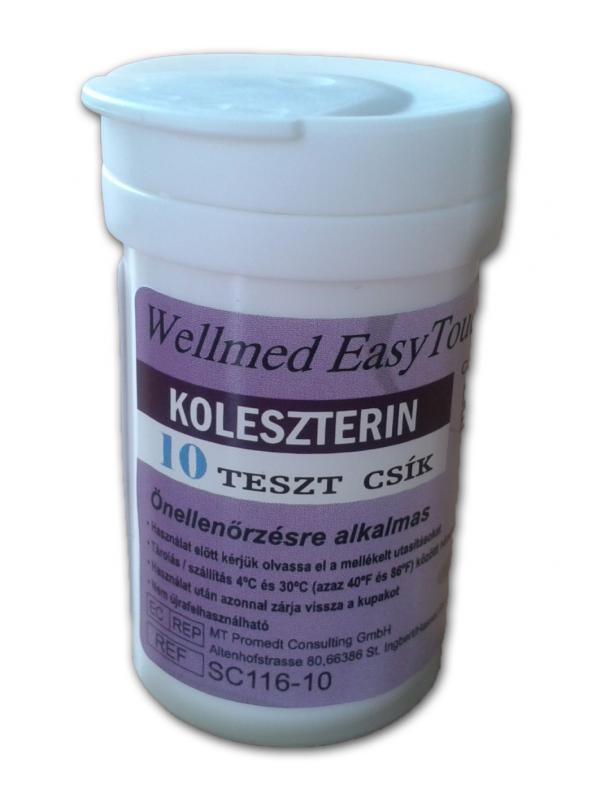 Easy touch koleszterin tesztcsík 10 db