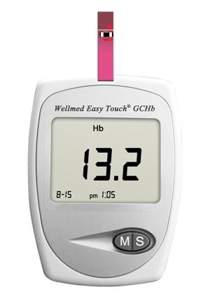 Easytouch GCHb hemoglobin-, vércukor- és koleszterinmérő készülék
