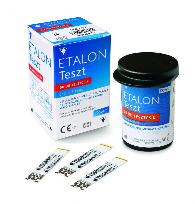 Etalon vércukor tesztcsík 50 db