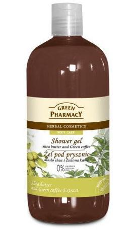 Green Pharmacy Gyógynövényes tusfürdő Shea vaj és zöld kávé 500ml