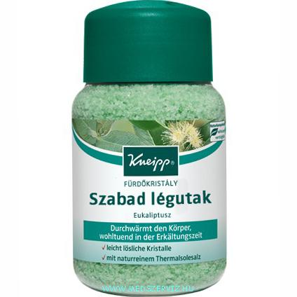 Kneipp Szabad Légutak eukaliptusz fürdőkristály só 500g
