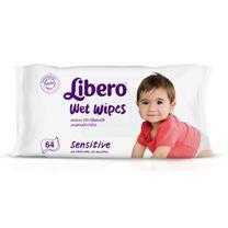 Libero nedves törlőkendő sensitive 64db