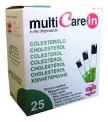 Multicare IN koleszterin tesztcsík 25 db