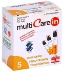 Multicare IN triglicerid tesztcsík 5 db