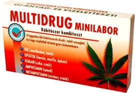 Multidrog minilabor tesztcsík