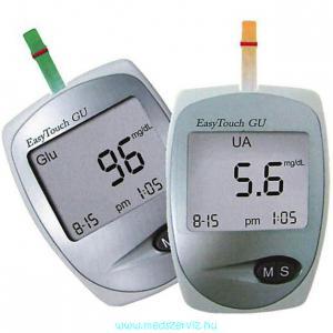 Easy Touch GU húgysav- és cukorszintmérő