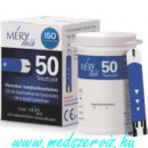 Méry kék tesztcsík 50db