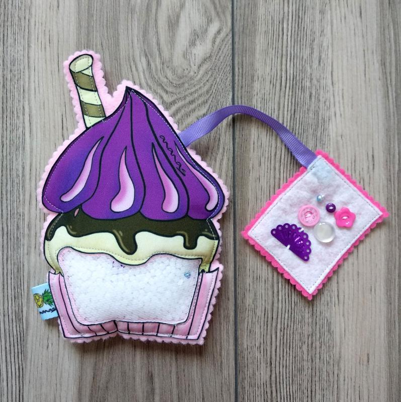 Lila Cupcake spybag