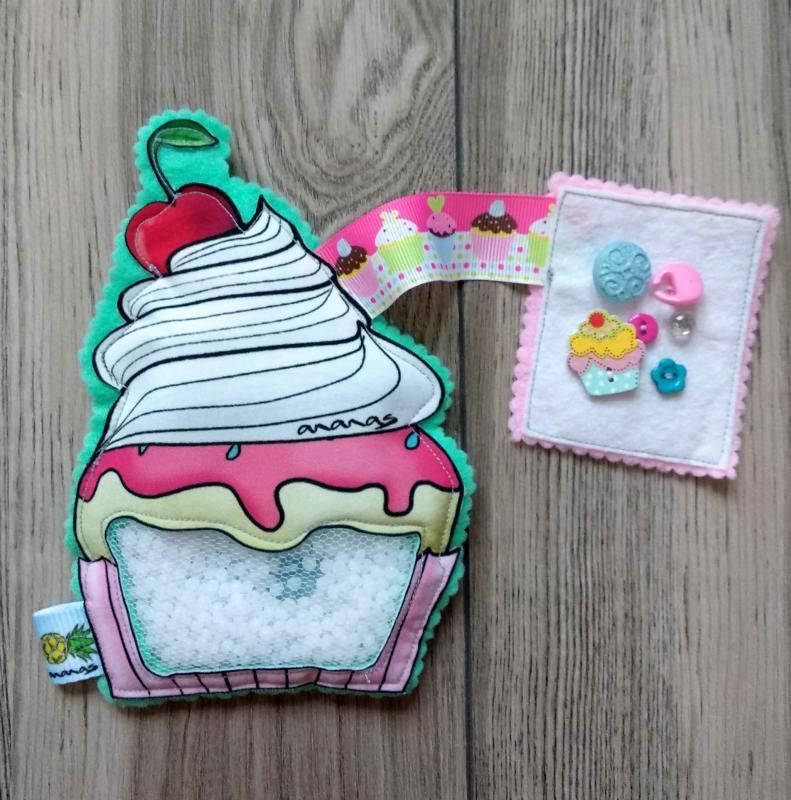 Rózsaszín Cupcake spybag