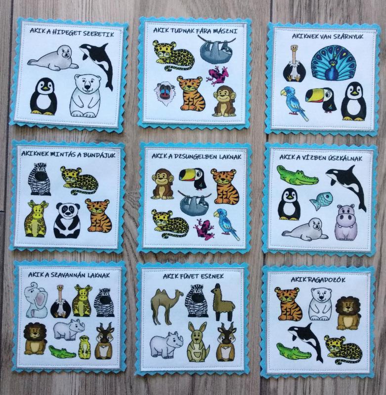 Zoo okos kártyák