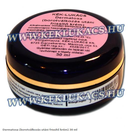Dermatosa (borotválkozás, epillálás utáni frissítő krém) 30 ml  kék lukács