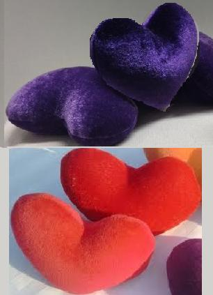 Kis köles párna szív Kölessel piros vagy Lila 11 cm