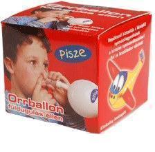 Pisze orrballon füldugulás ellen
