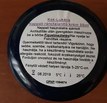 Ránctalanító nappali krém 55 ml Kék-Lukács