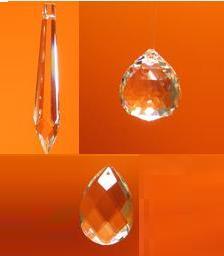 Szivárvány kristály ceruza nagy, gömb, levél kicsi