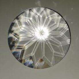 Szivárvány kristály lótusz 40 mm