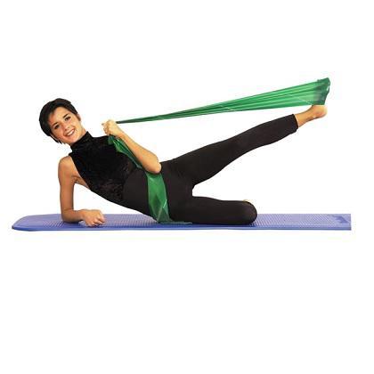 Thera-band erősítő gumiszalag kék, zöld, erős.