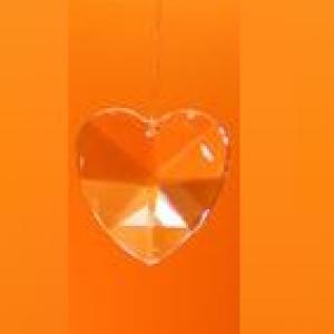 Szivárvány kristály szív