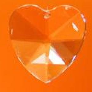 Szivárvány kristály szív nagy