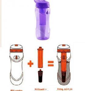Vízszűrő kulacs 500 ml Pure, Hűtőzselével.