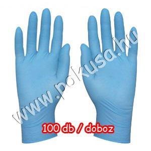 Munkavédelmi kesztyű kék nitril S, M, L méretekben (100 db)