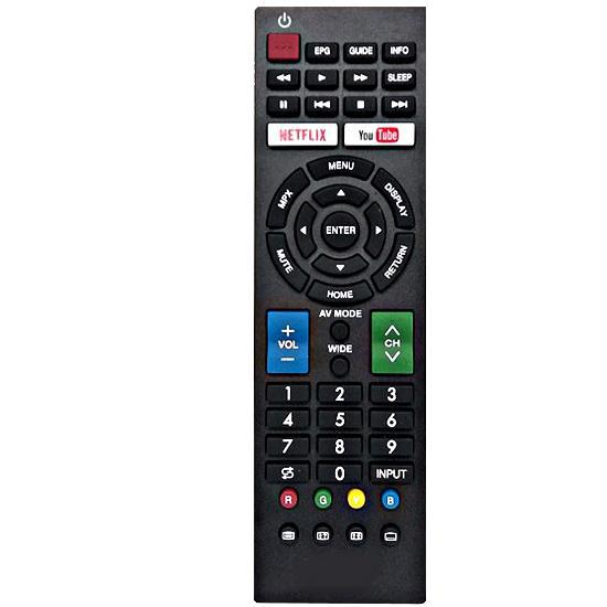 RM-L1346 Utángyártott távirányító SHARP SMART TV-hez, YOUTUBE/NETFLIX