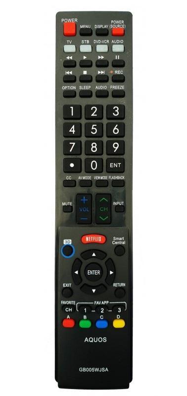 Sharp GB005WJSA utángyártott távirányító SMART LED tv