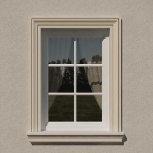 XPS kültéri stukkó, díszléc, ablakkeret