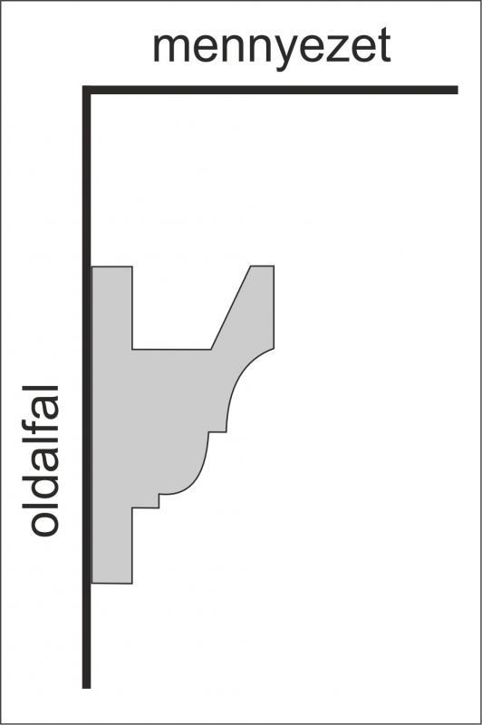 VL-5 Rejtett világítás díszléc, stukkó